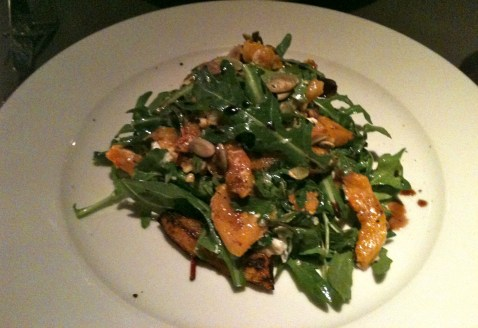 Goats Cheese, Roast Butternut Squast with Rocket in Boheme Kitchen and Bar
