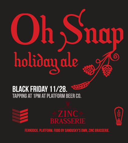 Black Friday Special Release – Oh Snap Holiday Ale