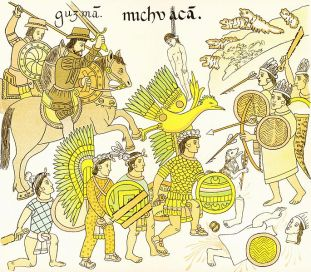 cotton armor in action: Native Mexicans vs. conquistadors