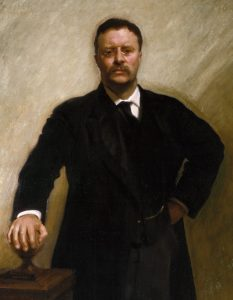 """President Theodore Roosevelt: """"speak softly and carry a big stick"""""""
