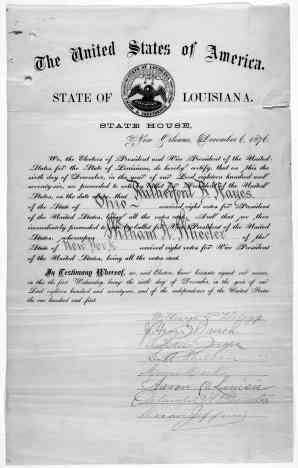 Louisiana's 1876 certification of electors