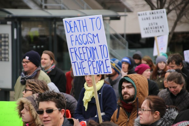 """""""death to fascism"""" protesters: the polarized left awoke too"""