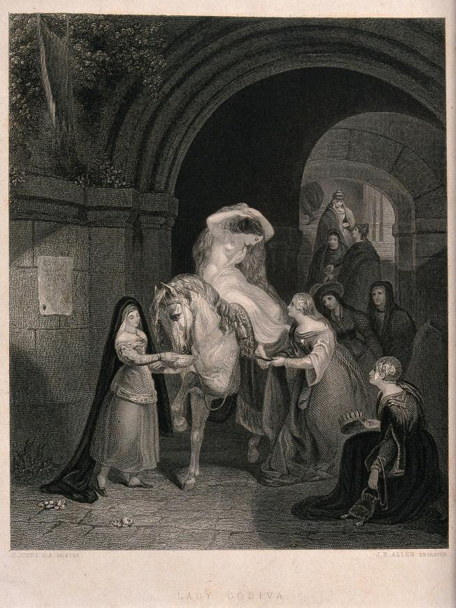 Lady Godiva engraving