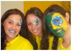PINTURA FACIAL BY GLADIS + COPA + BRASIL _ TORCIDA + MAQUIAGEM + TORCEDOR + 2014 + BRASIL + SÃO PAULO + CAMPINAS (18)