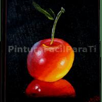 Pintura al Oleo Cereza Esfumada
