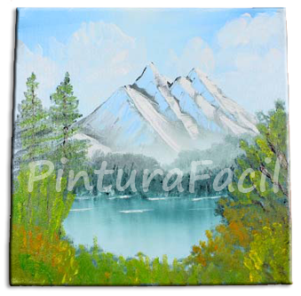 Pintura al oleo paisaje de monta a pintura facil - Como pintar cuadros faciles ...