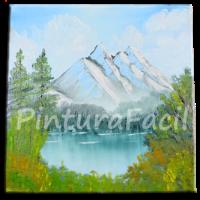 Pintura al Oleo Paisaje de Montaña