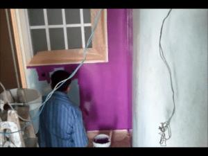 Lacado de paredes en morado