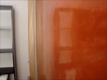 Estuco naranja con cera