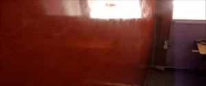 Estuco Color Naranja con Cera 2