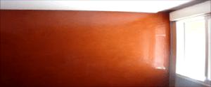 Estuco Color Naranja con Cera 8