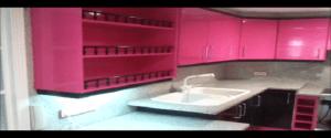 Lacado de Cocina en Rosa y Negro