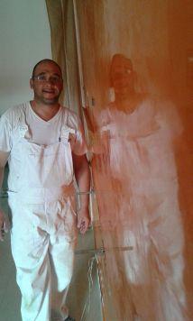 Estuco Veneciano Veteado Color Naranja (11)