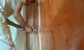 Estuco Veneciano Veteado Color Naranja (2)