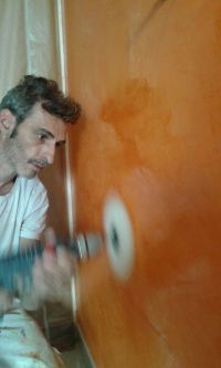 Estuco Veneciano Veteado Color Naranja (25)