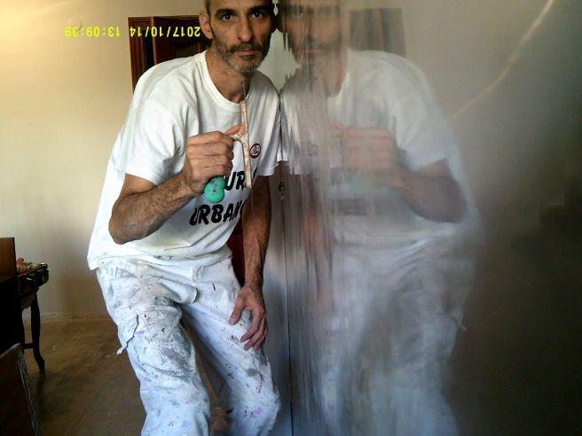 Reflejos sobre estuco veneciano gris 8