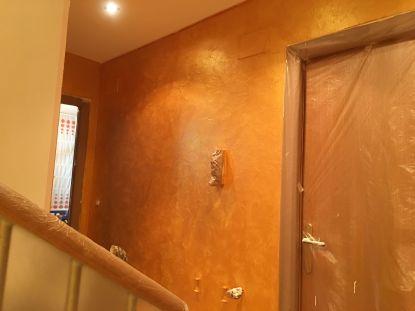 Aplicando Cera Metal Oro Sobre Efecto Rustico Brisa - Tarde (3)