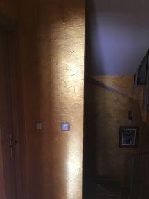 Cera Metal Oro Sobre Efecto Rustico Brisa - Mañana (10)