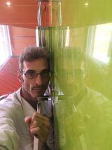 Reflejos sobre estuco veneciano verde paredes wc (10)