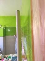Reflejos sobre estuco veneciano verde paredes wc (17)
