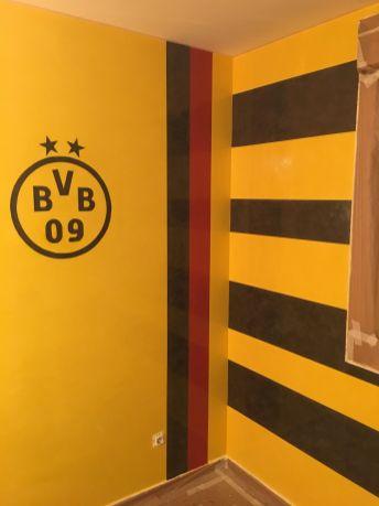 Estuco Veneciano Original a rayas amarillas y negras Borussia Dortmund (38)