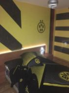 Estuco Veneciano Original a rayas amarillas y negras Borussia Dortmund Decoracion (10)