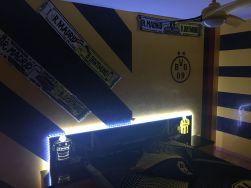 Estuco Veneciano Original a rayas amarillas y negras Borussia Dortmund Decoracion (9)