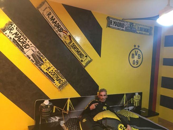 Estuco Veneciano Original a rayas amarillas y negras Borussia Dortmund Decoracion