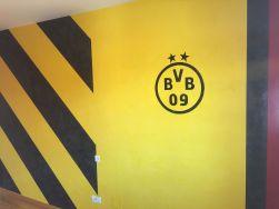 Estuco Veneciano Original a rayas amarillas y negras Borussia Dortmund - Terminado dia (11)