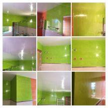 Estuco Veneciano Verde en Paredes Wc - COLLAGE
