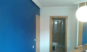 Dormitorio Sideral S-500 Blanco roto y Esmalte Pymacril Azul Oscuro (1)