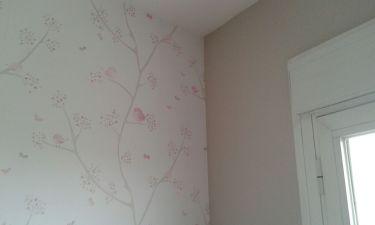 Papel Pintado Pajaros y arboles (1)