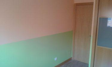 Habitacion Infantil Plastico Sideral Naranja y Esmalte Valacryl color verde (2)