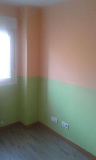 Habitacion Infantil Plastico Sideral Naranja y Esmalte Valacryl color verde (9)