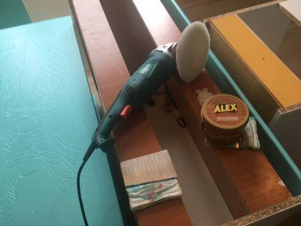 Cera Alex y pulidora