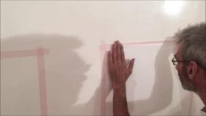 Colocacion de cinta tesa sobre el blanco 1