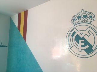 Estuco Veneciano Real Madrid con vinilos terminado (mañana) (15)
