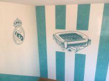 Estuco Veneciano Real Madrid con vinilos terminado (mañana) (36)