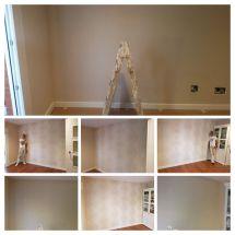 Salon papel pintado barroco en piso de Alcobendas -COLLAGE