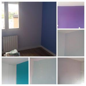 Esmalte pymacril color malva, azul y turquesa