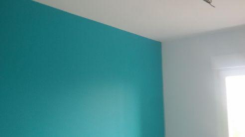 Color turquesa claro S-0505-B50G y un paño oscuro de esmalte pymacril turquesa S-1050-B50G Terminado (8)