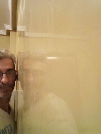 Reflejos sobre estuco veneciano original de 1995 color beige (2)