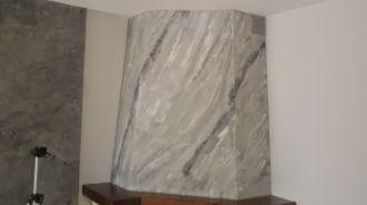 estuco marmoleado a 3 colores en chimenea con cera alex