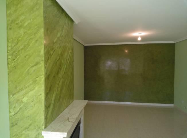 Estuco Marmoleado a 2 colores Verde claro y oscuro (1)