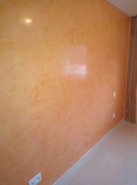Estuco Veneciano Espatuleado con Vetado Color Naranja (9)