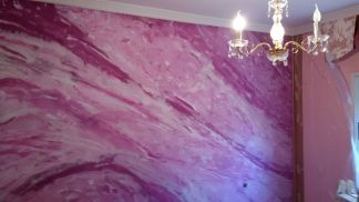 Estuco Marmol Violeta Oscuro y Blanco - Violeta Claro y Blanco (2)