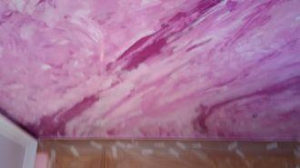 Estuco Marmol a 3 colores Violeta con cera (10)