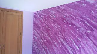 Estuco Marmoleado Violeta y Esmalte Valacryl Malva (3)