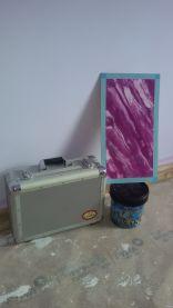 Mano de Imprimacion sideral s-500 color malva y Muestra Estuco Marmoleado (1)