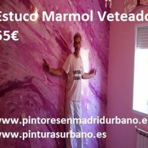 Oferta Estuco Marmol a 3 colores Violeta con cera 3